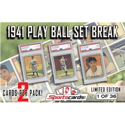 1941 PLAY BALL COMPLETE SET BREAK! 2 CARDS PER PACK! 1 in 3 Have a Key Hit!