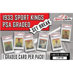 1933 Sport Kings PSA Graded Set Break Pack – 1 PSA Graded Card per Pack!