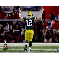 """Aaron Rodgers Signed Packers """"Super Bowl XLV"""" 16x20 Photo (Steiner COA)"""