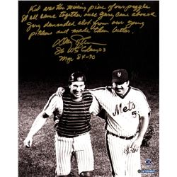 Davey Johnson Signed Mets 16x20 Story Photo with Handwritten Story Inscription (Steiner COA)