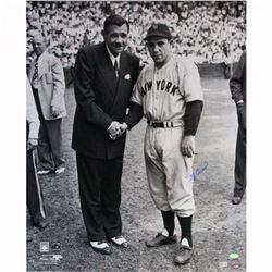Yogi Berra Signed Yankees 20x24 Photo with Babe Ruth (Steiner COA)