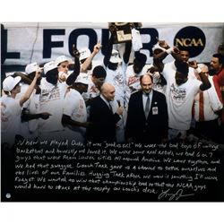 Larry Johnson Signed UNLV Rebels 16x20 Photo with Handwritten Story Inscription (Steiner COA)