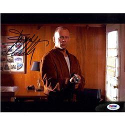 Bruce Willis Signed Looper 8x10 Photo (PSA COA)