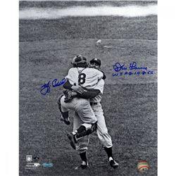 "Yogi Berra  Don Larsen Signed Yankees 11x14 Photo Inscribed ""WS PG 10-8-56"" (Steiner COA)"