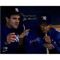 "Bernie Williams  Joe Torre Signed Yankees 16x20 Photo Inscribed ""4x WS Champs"" (Steiner COA)"