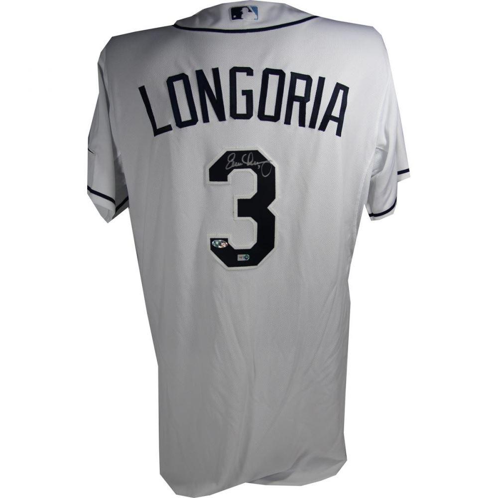 d2bfadaf0 Image 1 : Evan Longoria Signed Rays Jersey (Steiner COA, MLB Hologram  Longoria Hologram