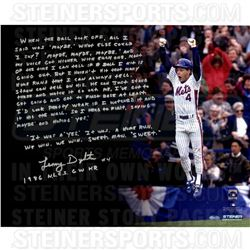 Lenny Dykstra Signed Mets 16x20 Photo with Handwritten Story Inscription (Steiner COA)