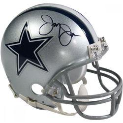 Jerry Jones Signed Cowboys Mini Helmet (Beckett COA)