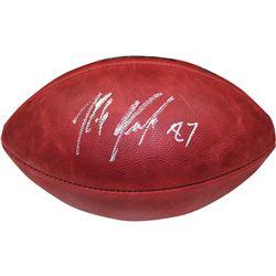 Rob Gronkowski Signed NFL Super Bowl XLIX Logo Football (Steiner COA)