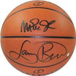 Magic Johnson  Larry Bird Signed NBA Basketball (Steiner COA)