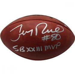 "Jerry Rice Signed Super Bowl XXIII Logo Football Inscribed ""SB XXIII MVP"" (Steiner COA)"
