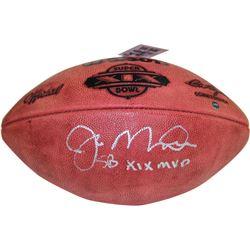 """Joe Montana Signed Super Bowl XIX Football Inscribed """"SB XIX MVP"""" (Steiner COA)"""