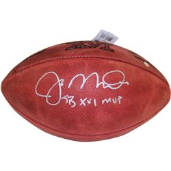 "Joe Montana Signed Super Bowl XVI Football Inscribed ""SB XVI MVP"" (Steiner COA)"