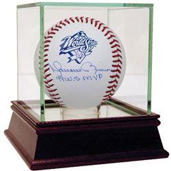 "Mariano Rivera Signed 1999 World Series Logo Baseball Inscribed ""99 W.S MVP"" (Steiner COA)"