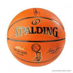 Stephen Curry Signed Spalding NBA Finals Logo Basketball (Steiner COA)