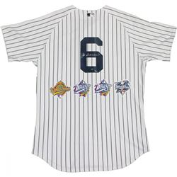 Joe Torre Signed LE Yankees Authentic Jersey with World Series Patches (Steiner COA)