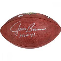 """Jim Brown Signed Wilson NFL """"The Duke"""" Football Inscribed """"HOF 71"""" (Steiner COA)"""