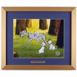 "Walt Disney's ""101 Dalmatians"" 16x19 Custom Framed Animation Serigraph Display"
