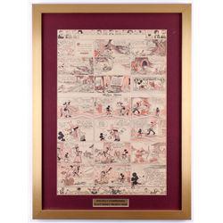 "1933 Original ""Silly Symphonies"" Disney Comic Strip 20x27 Custom Framed Display"