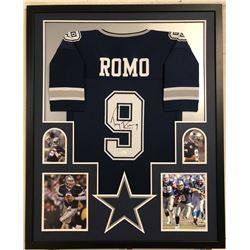 Tony Romo Signed Cowboys 34x42 Custom Framed Jersey (JSA COA)