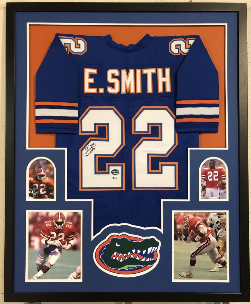 sale retailer fc7a4 445f3 Emmitt Smith Signed Florida Gators 34x42 Custom Framed ...