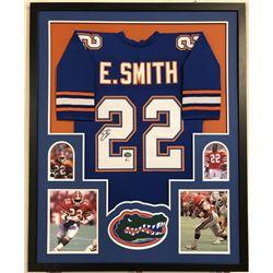 Emmitt Smith Signed Florida Gators 34x42 Custom Framed Jersey (Beckett COA  Prova Hologram)