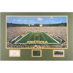 Packers 18x27 Custom Matted Authentic Lambeau Field Game-Used Metal Cut Display (Elite Sports Promot