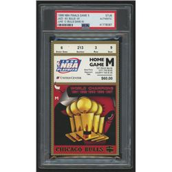 Authentic 1998 NBA Finals Game 5 Ticket (PSA Encapsulated)