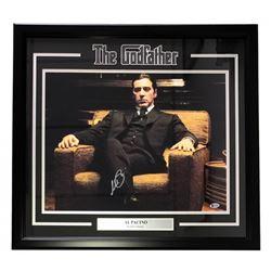 "Al Pacino Signed ""The Godfather"" 25x27 Custom Framed Photo Display (Beckett COA)"