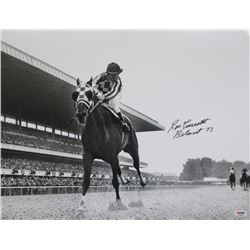 "Ron Turcotte Signed 16x20 Photo Inscribed ""Belmont 73"" (PSA COA)"