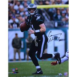 "Carson Wentz Signed 16x20 Eagles Photo Inscribe ""AO1"" (Fanatics Hologram)"