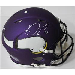 Dalvin Cook Signed Vikings Authentic On-Field Full-Size Speed Helmet (JSA COA)