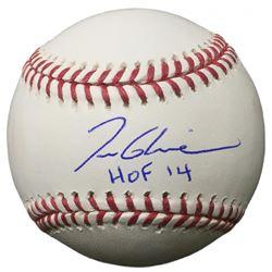"""Tom Glavine Signed OML Baseball Inscribed """"HOF 14"""" (JSA COA)"""