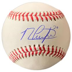 Michael Conforto Signed OML Baseball with Display Case (JSA COA)