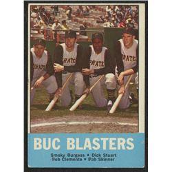 1963 Topps #18 Buc Blasters Smoky Burgess / Dick Stuart / Bob Clemente / Bob Skinner