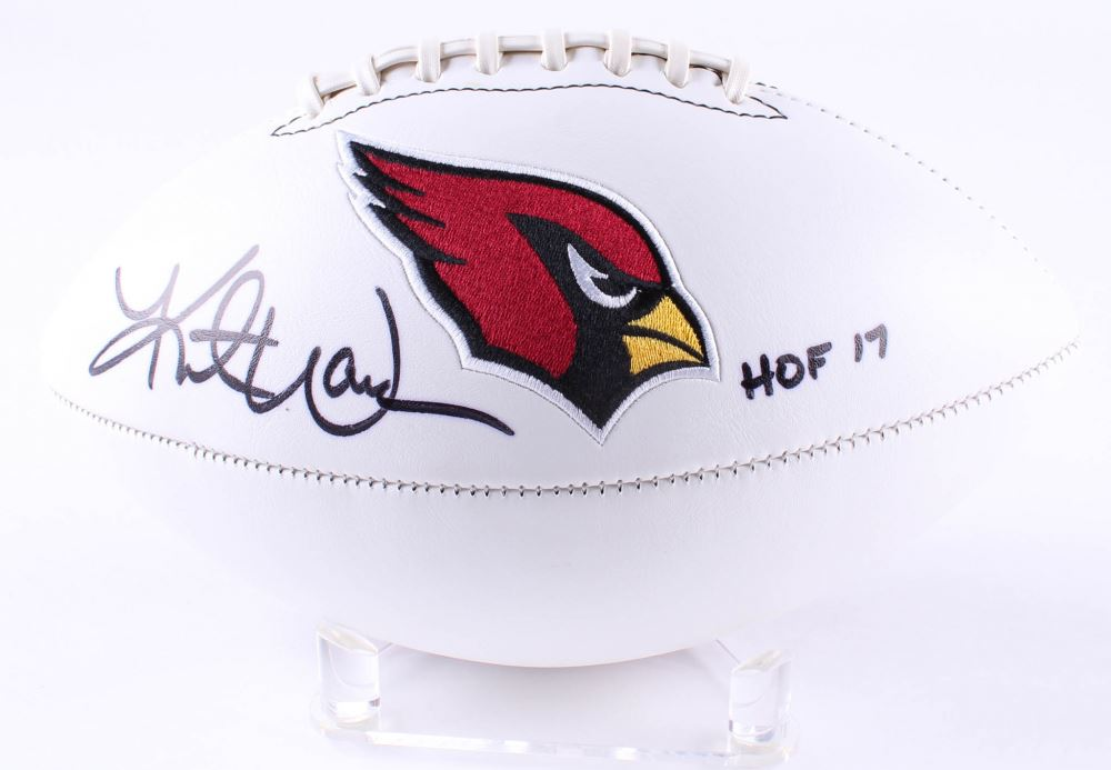 wholesale dealer 4ee2c 0992e Kurt Warner Signed Cardinals Logo Football Inscribed