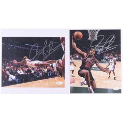 Lot of (2) Dennis Rodman Signed Bulls 8x10 Photos (JSA COA)