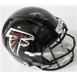 Devonta Freeman Signed Falcons Full-Size Speed Helmet (Radtke COA)