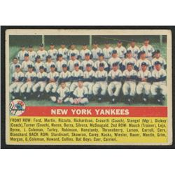 1956 Topps #251 New York Yankees Team Card