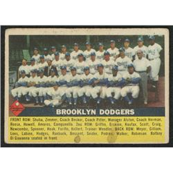 1956 Topps #166 Brooklyn Dodgers Team Card