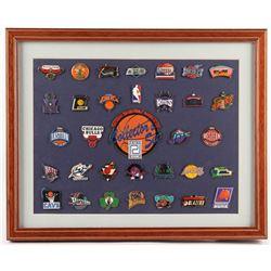 NBA Collectors Set 12x15 Custom Framed Pin Set Display