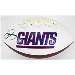 Odell Beckham Jr. Signed Giants Logo Football (JSA COA)