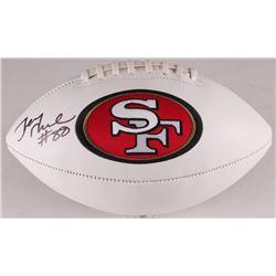 Jerry Rice Signed 49ers Logo Football (Beckett COA)