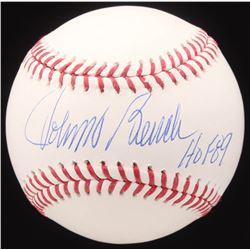 "Johnny Bench Signed OML Baseball Inscribed ""HOF 89"" (JSA COA)"