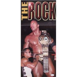 """The Rock"" Signed 10.75x23.25 Poster (JSA COA)"