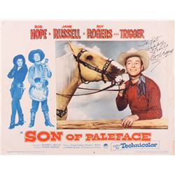 """Roy Rogers Signed """"Son of Paleface"""" 11x14 Lobby Card Inscribed """"Happy Trails"""" (JSA COA)"""