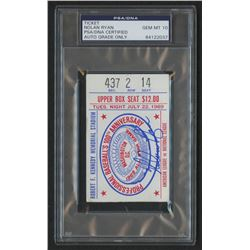 Nolan Ryan Signed 1969 All-Star Game Ticket (PSA Encapsulated)