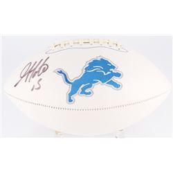 Golden Tate Signed Lions Logo Football (Beckett COA)