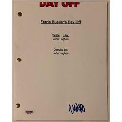 "Matthew Broderick Signed ""Ferris Bueller's Day Off"" Full-Movie Script (PSA COA)"