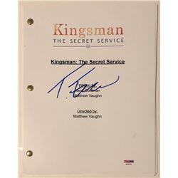 """Taron Egerton Signed """"Kingsman: The Secret Service"""" Full-Movie Script (PSA COA)"""